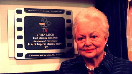 Pictured in November 1998, Gone With The Wind actress Dame Olivia de Havilland. Pictured: Rosie Hall