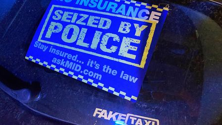 The Fake Taxi-branded Renault Clio was seized after the driver clocked 60mph in a 40-zone, was drivi
