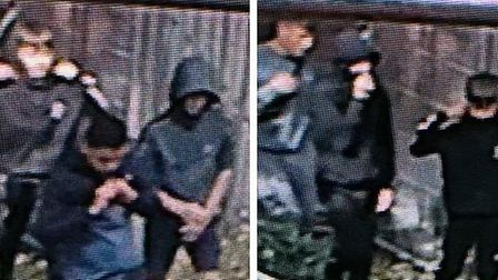 Do you recognise any of these people? CCTV at Ely House in Wisbech captured the group breaking into
