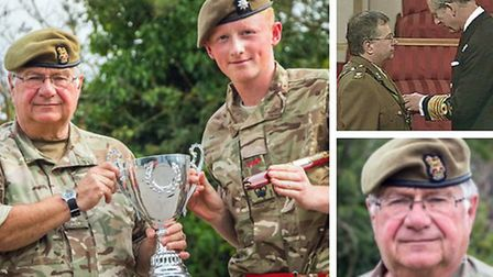 Colonel Mark Knight MBE LD (L), of Wisbech, to retire from Cambridgeshire's Army cadets after 45 yea