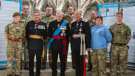 Colonel Mark Knight MBE LD (Back Right) pictured at the 876 Service, which was part of a project to