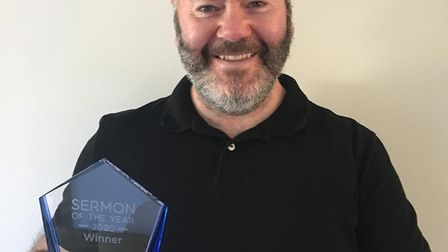 William Wade won Sermon of the Year 2020. Picture: Supplied by Pastor magazine