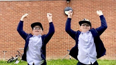 "Twins Thomas and Jake from St Philip Howard School. Mum Claire said: ""They are leaving this year and"