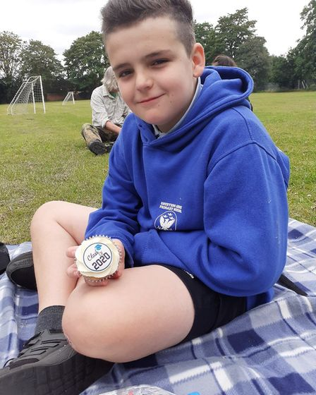 Harri Hall, who is leaving Year 6 at Countess Anne School in Hatfield. Picture: Helen Hall