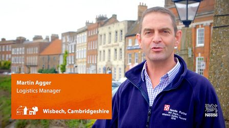 Logistics manager Martin Agger is Nestle Purina's commentator and guide for a three minute video sho