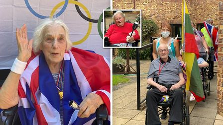 Orchard House care home in Wisbech took part in their own 2020 Olympic games. Picture: Supplied