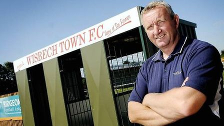 Wisbech Town FC chairman Paul Brenchley outside the Elgoods Fenland Stadium. 'If anybody wishes to a
