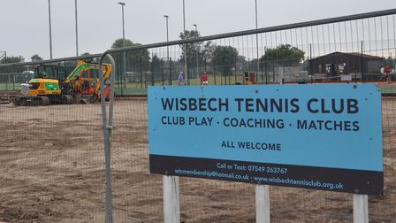Wisbech Tennis Club has helped raise funds for the development of two new tarmacadam courts. Picture