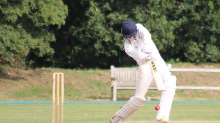 Kieran Atkinson was in fine form for Datchworth against Letchworth. Picture: WILL NASH