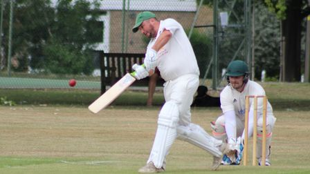 Barry Turner finds the boundary. Picture: WILL NASH