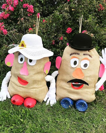Mr and Mrs Potato Head by Teddy and Nancy Young, (Hungate Road).