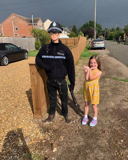 Rosie and Liam policeman (Terrington Close) ... he was once there.