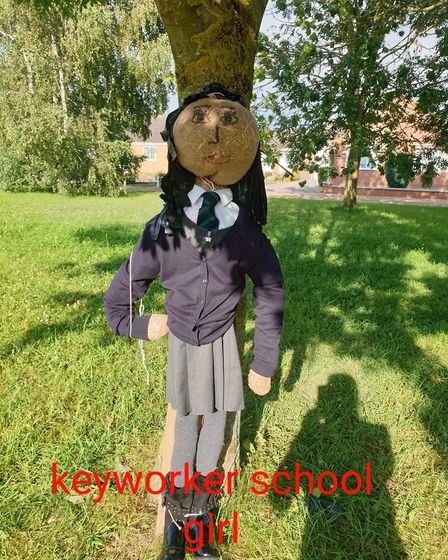 Keyworker child at school during covid whilst her parents work (13 Coates Court). She is part of a s