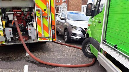 Asda has issued an apology to Cambridgeshire Fire and Rescue Service after one of their delivery dri