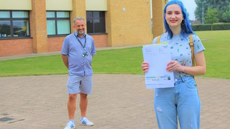 Thomas Clarkson Academy student Anna Ivaskevica, who moved from Latvia to Wisbech when she was in Ye