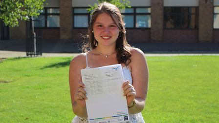 There were tears of joy from Alisha when she discovered she'd been awarded five 8 grades and two 7 g