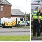 Churchill Road Wisbech where there has been a large police presence at a detatched house since the e