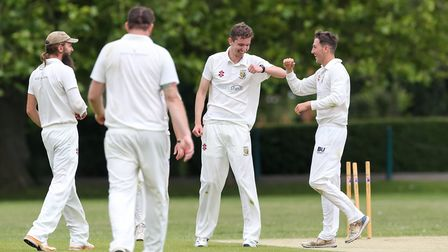 There were plenty more celebrations for Tewin Cricket Club on a historic day. Picture: DANNY LOO
