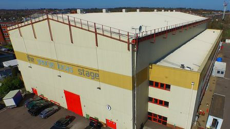 An aerial shot of the George Lucas Stages at Elstree Studios. Picture: Elstree Studios
