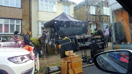 'I Hate Suzie' being filmed on Park Avenue. Potters Bar. Picture: Jill Hellary.