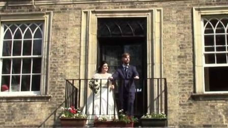 Photo of the wedding at Wisbech Castle shared to social media by Wisbech Town Council. The council h
