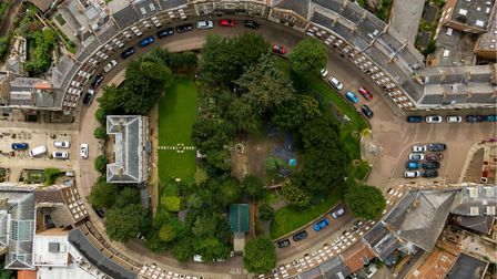 """Aerial of Wisbech Castle. Bride who got married there said: """"As a gift from the castle, they have of"""