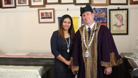 Cllr Andrew Lynn is deputy mayor, now acting mayor. He is pictured with his wife Rima.