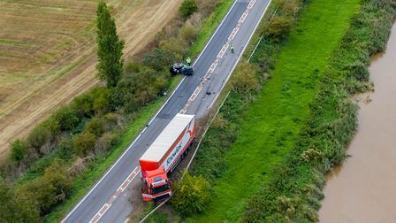 The serious collision on the A47 at South Brink between Wisbech and Guyhirn on September 8 involving
