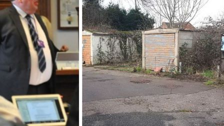 Abandoned garages at a former sewage works site in Murrow were sold at auction off an asking price o