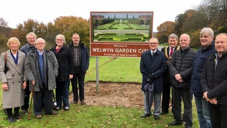 The site of the grand unveiling with the Mayor and the team on a rainy day last autumn. Picture: Sup