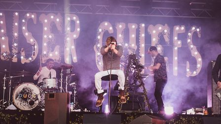 Kaiser Chiefs playing Pub in the Park's drive in Garden Party at Henley. The band will appear at Kne