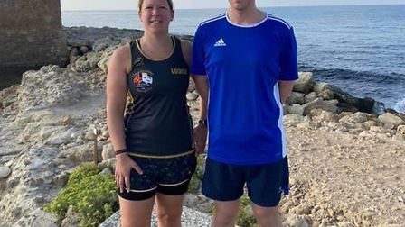 Three Counties members Louise Drew and partner Warren Reed top their age categories at the 5k parkru