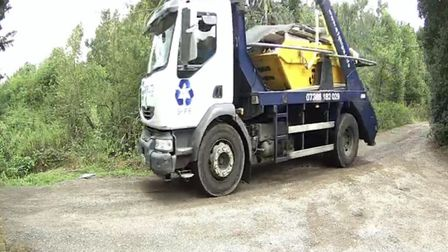 A1 Skips Ltd near The Meadows, South Mimms. Picture: Supplied