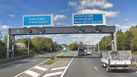 The A1(M). Picture: Google Street View.