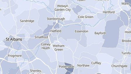 Welwyn Hatfield and Potters Bar COVID-19 deaths have been broken down by area.