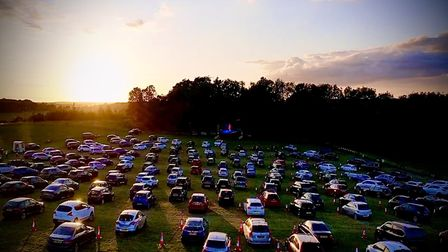 Drivein-Movies continues at the Hertfordshire County Showground this weekend. Picture: supplied by D