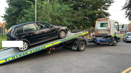 Police stopped this Vauxhall Corsa on Ramnoth Road in Wisbech before the uninsured driver failed a r