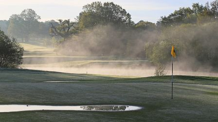 Early morning mist at Brookmans Park Golf Club.