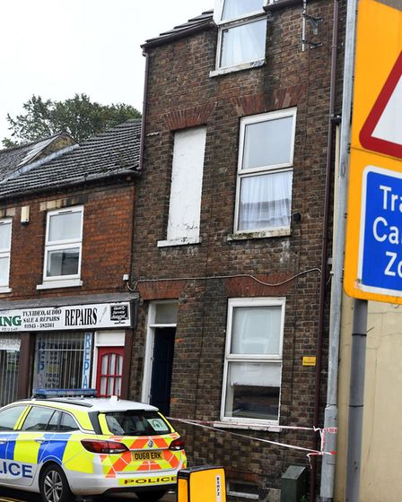 A woman was taken to hospital after falling from the third floor of Wisbech property. Picture; IAN C