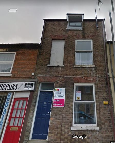 The property from where a woman fell from the third floor in Norwich Road, Wisbech. Picture; GOOGLE