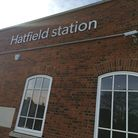 Hatfield train station.