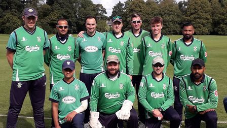 The Welwyn Garden City squad who beat West Herts in the penultimate game of the 2020 Herts Cricket L