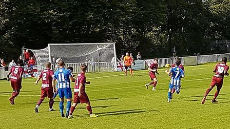 Welwyn Garden City hosted Saffron Walden Town at Herns Lane in the FA Cup preliminary round.