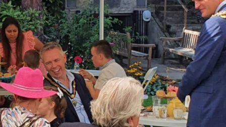 Mayor Aigars Balsevics hosted a civic tea party at Wisbech Castle. Picture; WISBECH TOWN COUNCIL