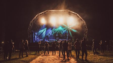 The stage at the first Pub in the Park's drive in Garden Party. Picture: Edd Cope
