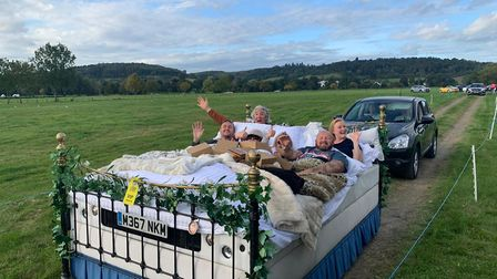 TV presenter Edd China enjoyed the festival vibes from the comfort of his drive-in bed at last weeke