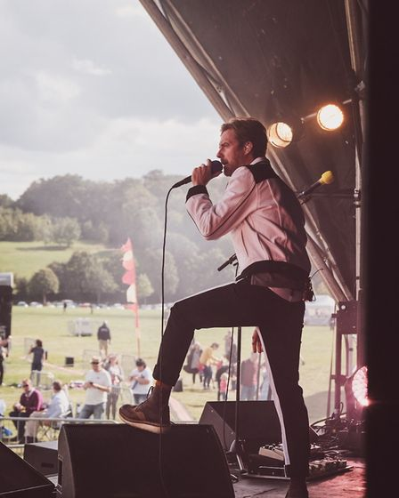 Kaiser Chiefs playing Pub in the Park's drive in Garden Party at Henley. Picture: Supplied by Switch