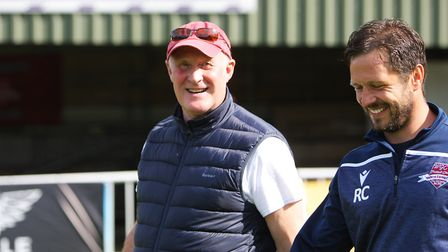 WGC V Saffron Walden Town - WGC manager Nick Ironton with assistant Ricci Crace.Picture: Karyn Ha