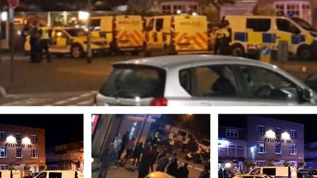 Police confirmed two are in hospital after a major disturbance in Wisbech tonight. However police al