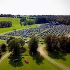 An aerial shot of Pub in the Park's drive in Garden Party at Knebworth House. Picture: Supplied by P